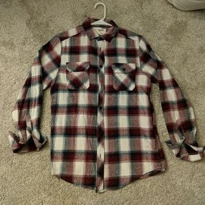 Other - Plaid Flannel Button Up Long Sleeve Shirt
